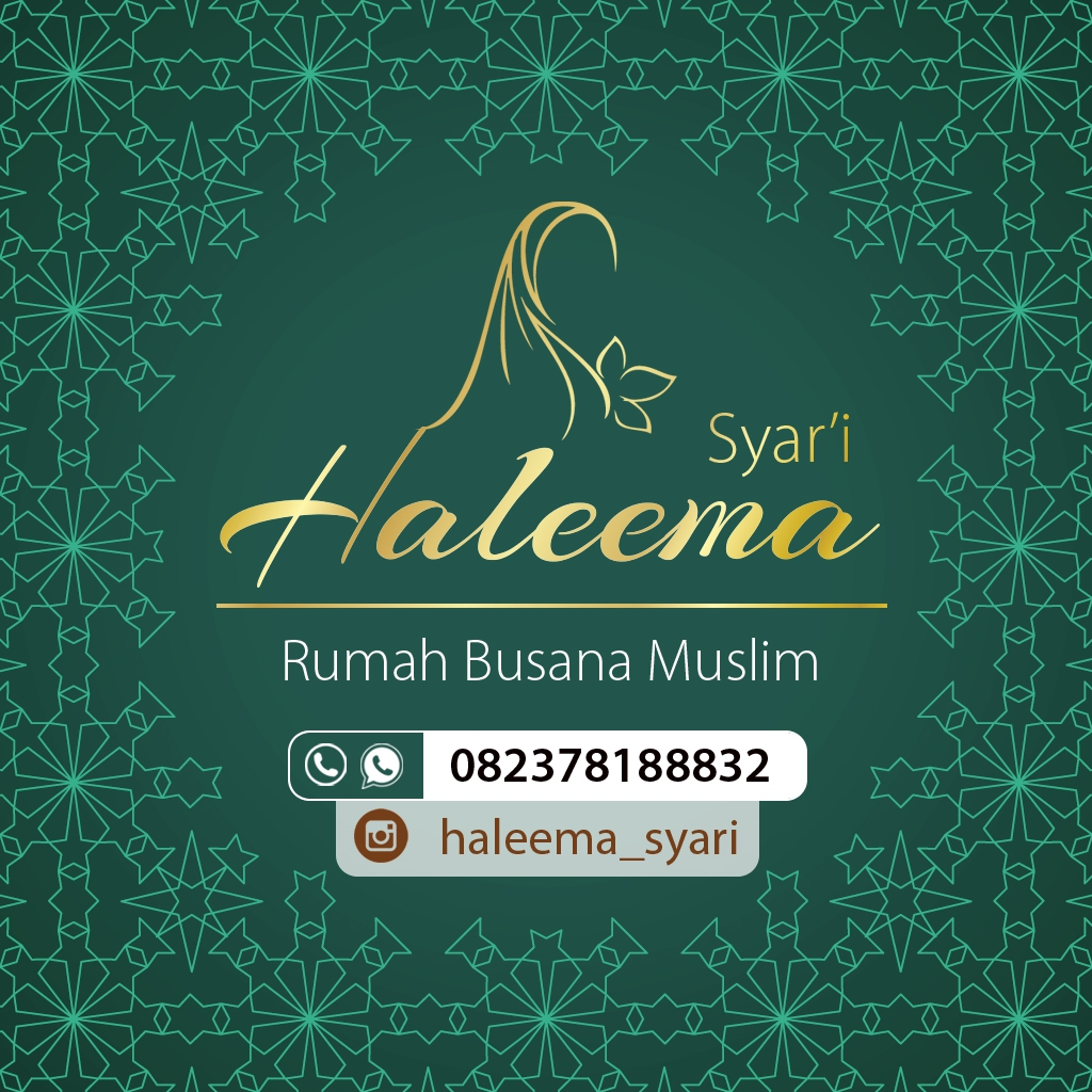 Design Logo Haleema Syari