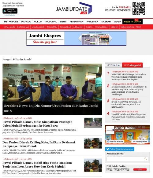 Jambiupdate.co (Berita Jambi Paling Update)