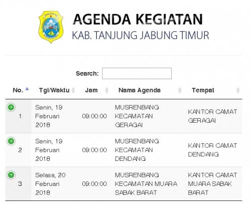 Agenda Kegiatan Kab. Tanjabtim