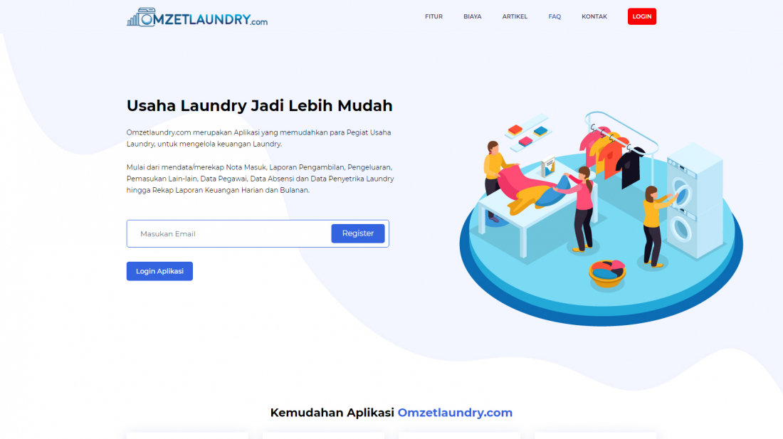 Aplikasi Laundry Gratis Omzetlaundry.com